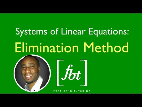 Systems of Linear Equations: The Elimination (Addition) Method [fbt]
