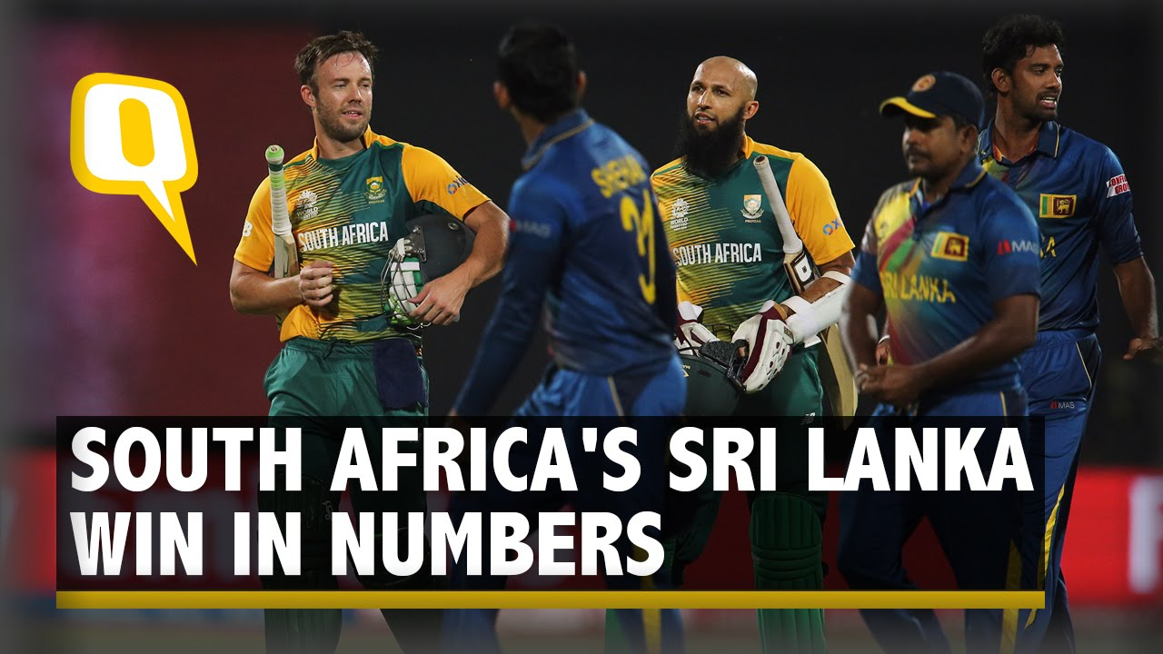 In Stats: Amla Scores 56 off 52 Balls as South Africa Beat SL