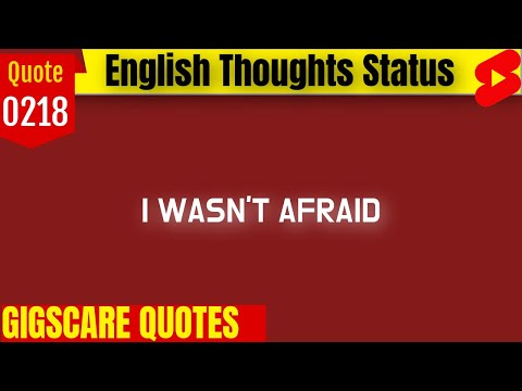 inspirational quotes I Wasn't Afraid To Fail | English Thoughts #Short