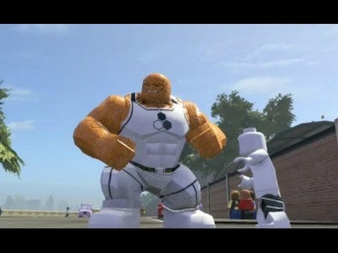 LEGO Marvel Super Heroes - All Future Foundation Costumes + Free Roam Gameplay