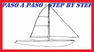Como dibujar un Barco de Vela l How to draw a Sailboat