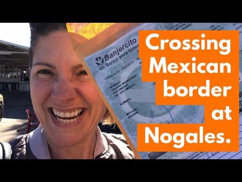 Crossing US - Mexico At Nogales
