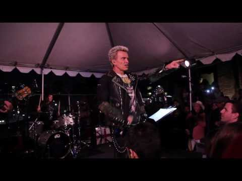 "Billy Idol Sex Pistols Steve Jones Live Sid Viciouse tribute Stooges "" I want to be your dog"""