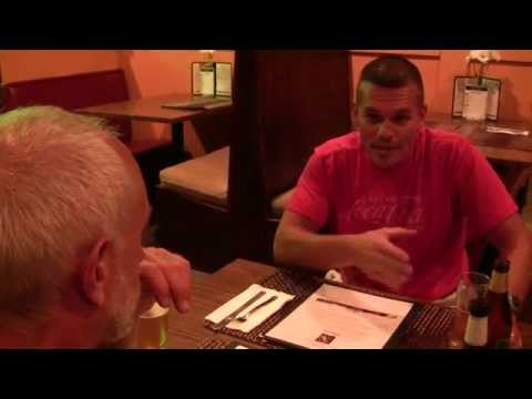Talk with the character, Allende at Thai Spice, Part 1