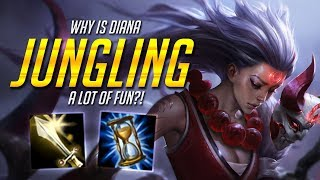 DIANA JUNGLING IS SO MUCH FUN!!! [LoL Funny Moments]