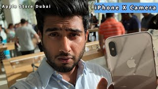 Download Video iPhone X Camera Review at Apple Store Dubai Mall MP3 3GP MP4