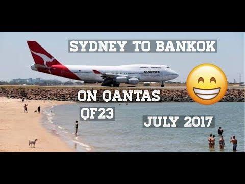 Sydney to Bangkok on Qantas QF23 july 2017