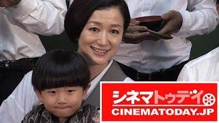 女優の鈴木京香が映画『おかあさんの木』の完成披露会見に出席。7人の青...