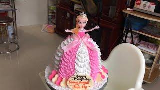 Làm Bánh Kem Váy Búp Bê Đơn Giản #3 - How to make barbie doll cake