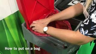 How to put an ecodepo bag on your recycling bin