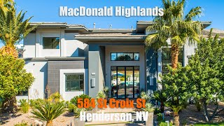 MacDonald Highlands | LUXURY HOME | 584 St Croix St | Henderson, NV