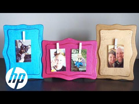 DIY Clothespin Photo Holder - YouTube