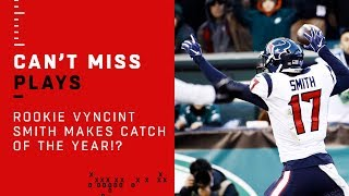 Texans Rookie WR Vyncint Smith Makes Catch of the Year!?