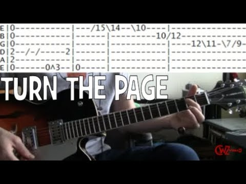 Tab for Turn the Page by Bob Seger Guitar chords lesson covered by ...