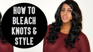 HOW TO BLEACH KNOTS & STYLE A FULL LACE WIG FOR BEGINNERS | CHINACANDYCOUTURE | BELLE WIGS