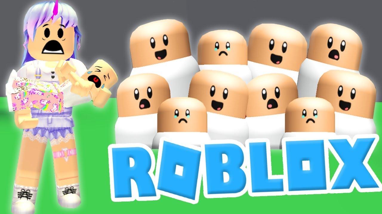 Adopto Muchos Bebes Y Me Tratan Mal Roblox Adopt Me Youtube
