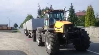 JCB FASTRAC + Przyczepy transportowe 35 ton