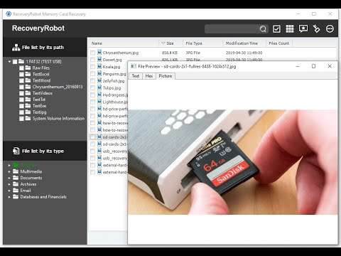 How to Recover Pictures from a Memory Card with RecoveryRobot Memory Card Recovery Software