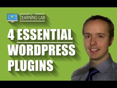 4 Best WordPress Plugins With Tutorial WalkThrough - Essential WordPress Plugins - WP Learning Lab - 동영상