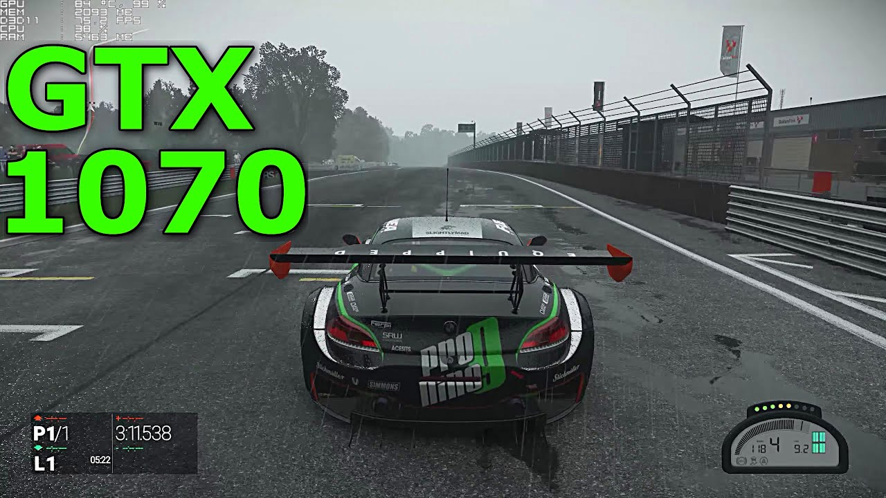 project cars gtx 1070 ultra graphics 1440p youtube