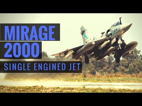 Mirage 2000 Fighter Plane  - Single Engined Jet