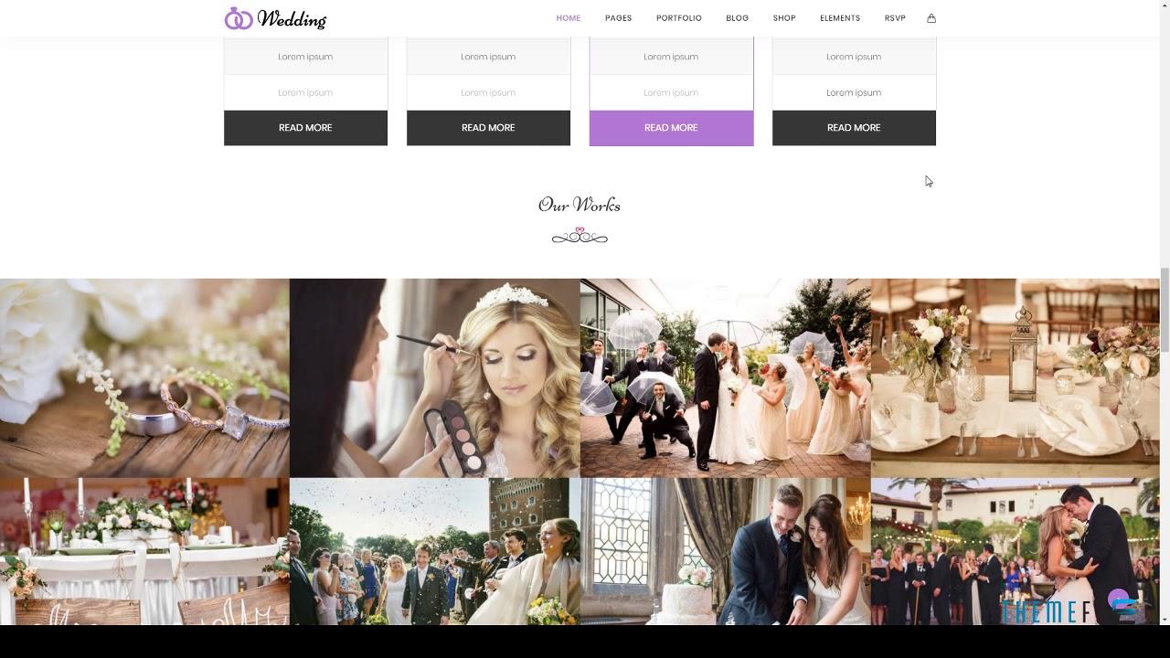 Wedding Wedding Amp Wedding Planner Wordpress Theme Free Youtube