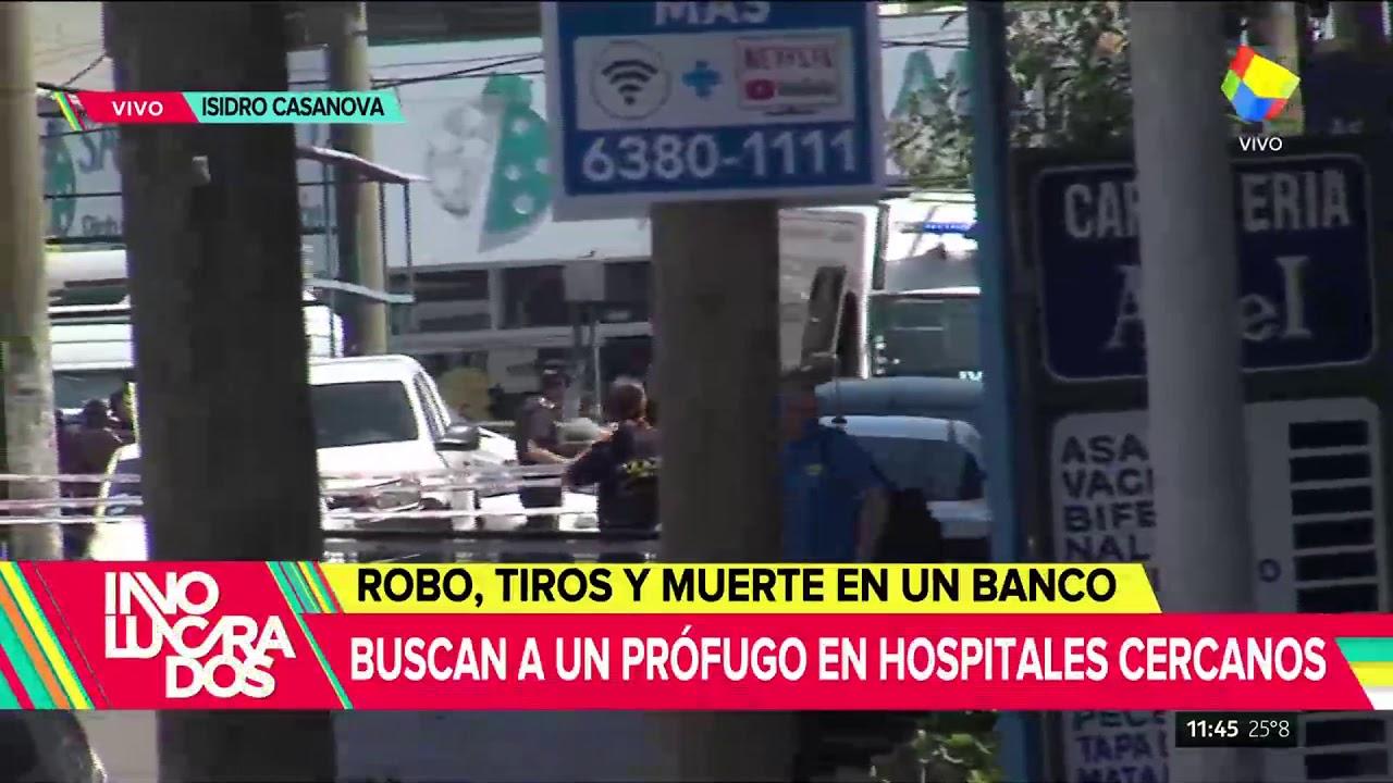 Robos, tiros y muerte en un banco de Isidro Casanova