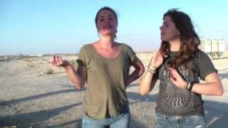 Tali and Becca Go To A Farm In The Desert