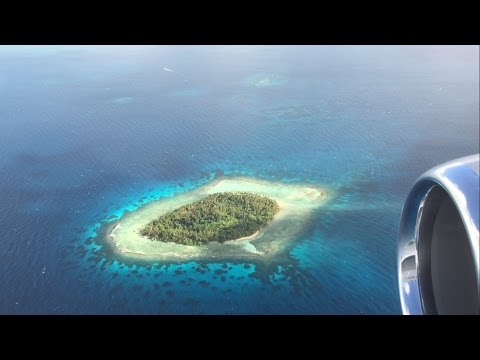 Beautiful United Airlines B737-800 flight - Pohnpei to Chuuk