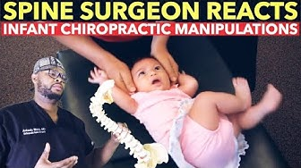 Spine Surgeon Reacts to INFANT Chiropractic Manipulations