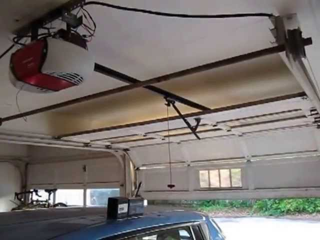 Off Grid Solar Powered Garage Door Opener Youtube