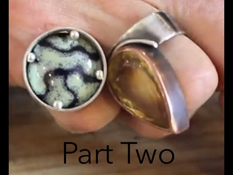 Stone setting creating a frame setting for cabochons part 2 stone setting creating a frame setting for cabochons part 2 jewelry tips with nancy youtube aloadofball Gallery