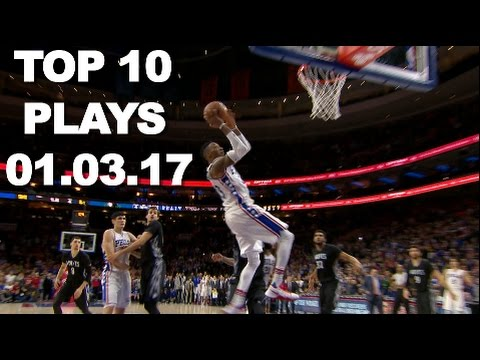 Top 10 NBA Plays Of The Night