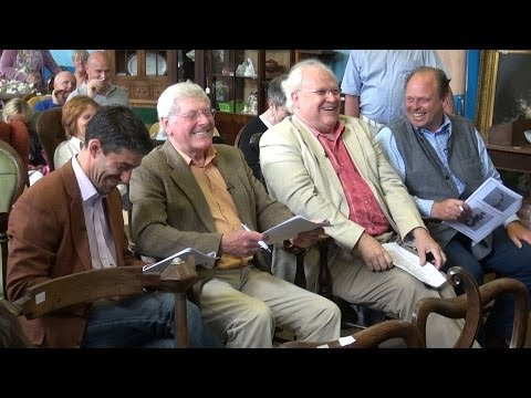 Behind the scenes footage - Celebrity Antiques Road Trip visits British Bespoke Auctions