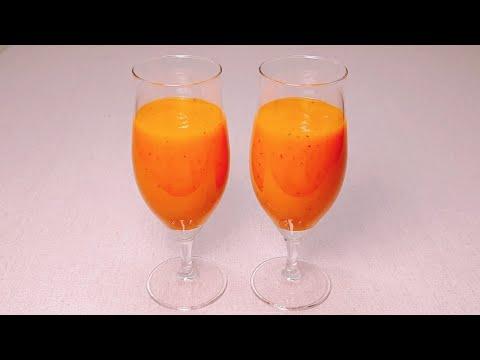 사과 당근 주스 만들기/노폐물을 제거하는 건강음료/아침식사대용 생과일주스/하루한끼 뚝딱!/효능/Apple carrot juice[수현집밥레시피]