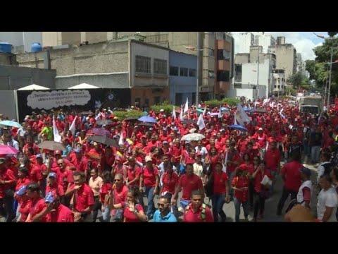 Chavistas Marchan En Caracas En Apoyo A Constituyente