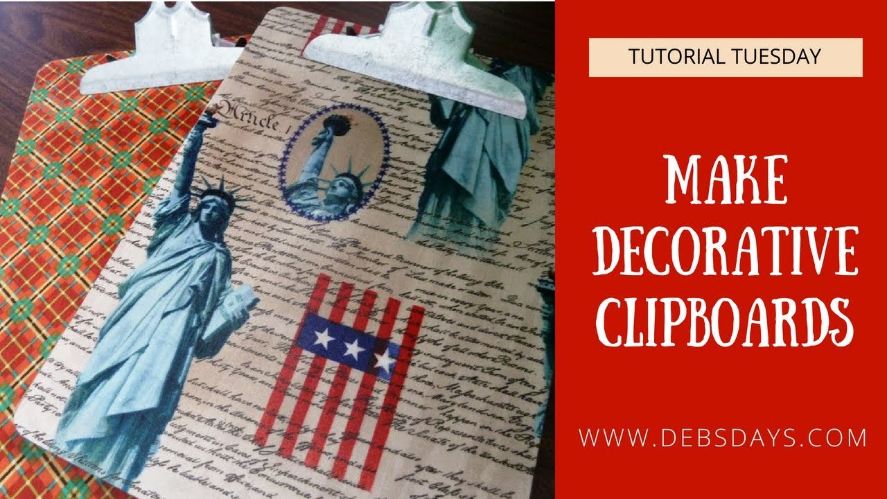 How To Make Decorative Clipboards With Fabric Diy Project