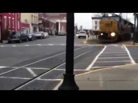 Freight Train. Hudson, NY