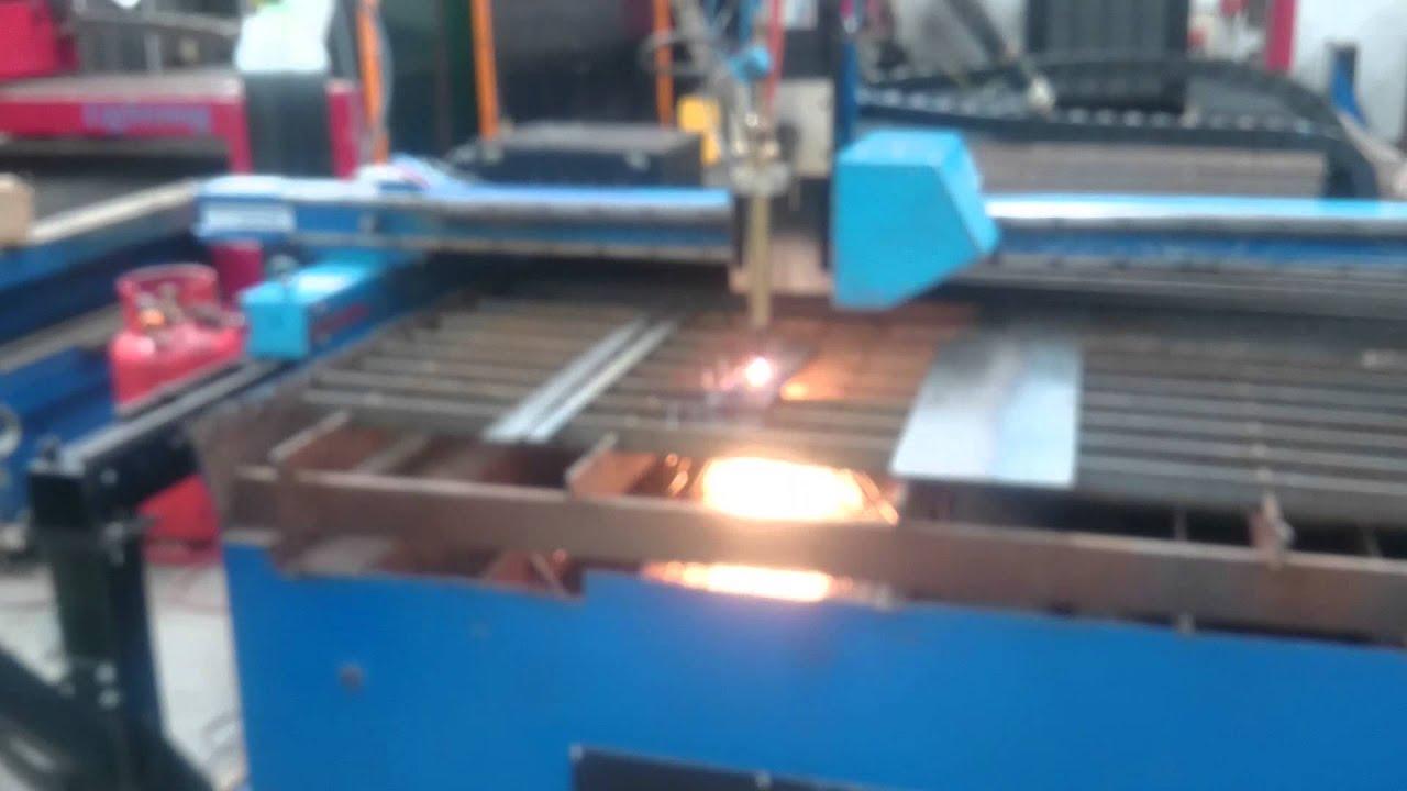 Messer Griesheim Mg Eagle Cnc Plasma Bed Cut Test Youtube