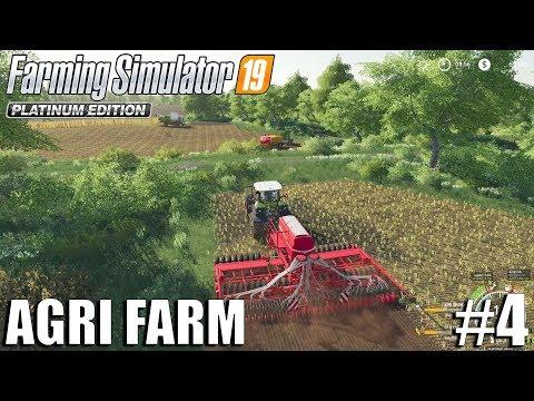 Agri Farm   Harvesting Wheat   Timelapse #4   FS19   Farming Simulator 19
