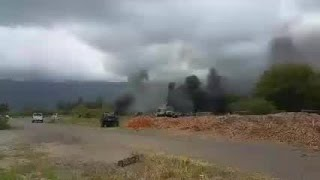 Video of military aircraft crash