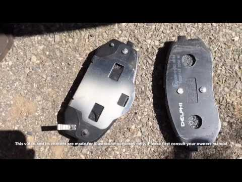 Hyundai ix35 brake pad change CRDi