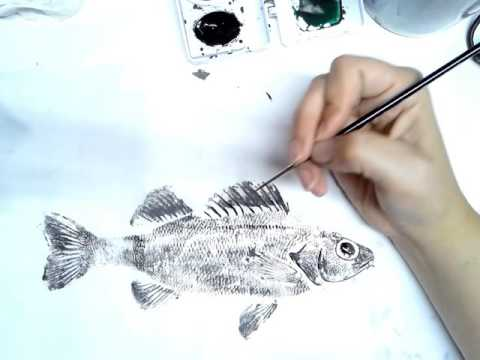 How To: Add Details To Your Gyotaku Print