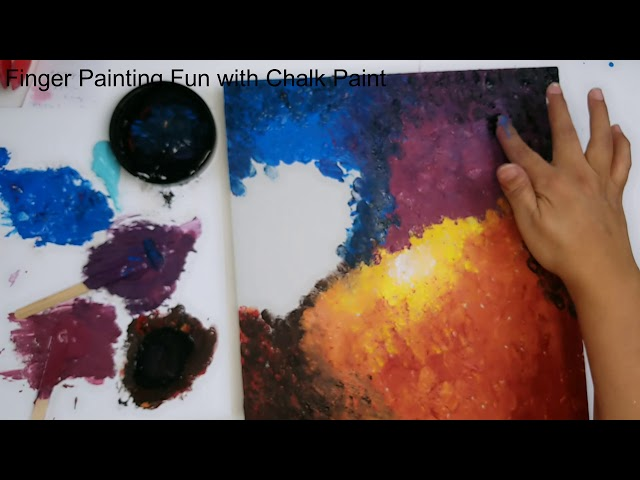 Finger Painting with Chalk Paint - Part 2