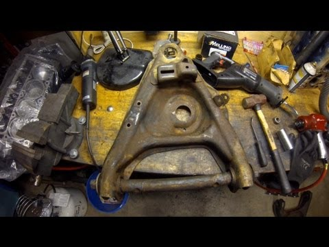 How To Control Arm Bushing Removal at Home (without a torch) 1984 Chevrolet Truck C10 DIY  YouTube
