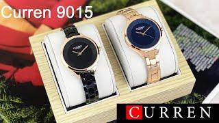 Curren 9015 Модные дизайнерские женские кварцевые часы