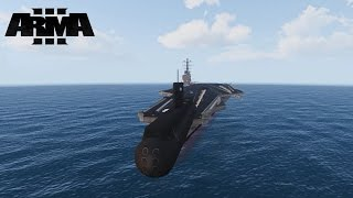 ARMA 3 - Launching Boats and Ships from an Aircraft Carrier