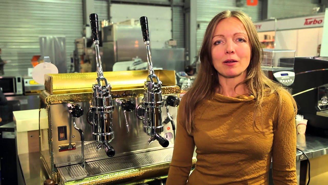 Леверная кофемашина Victoria Arduino впервые в Украине - YouTube