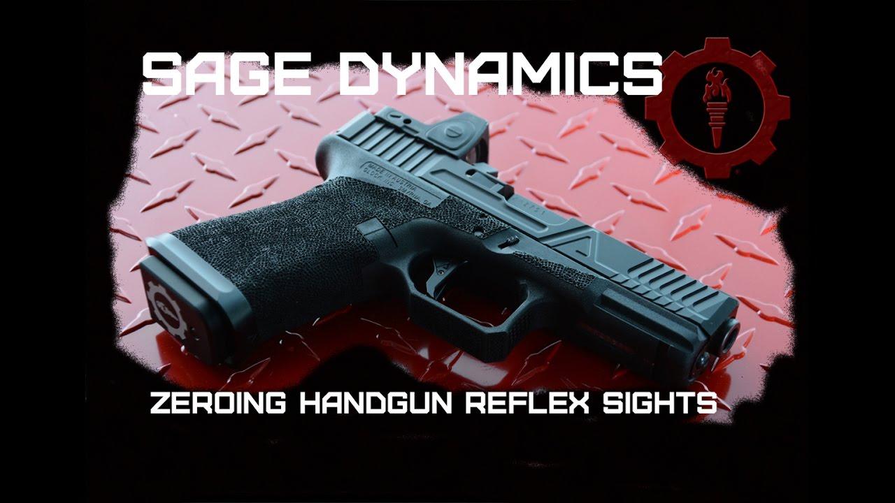 How to Zero a Handgun Red Dot Sight | Locked Back