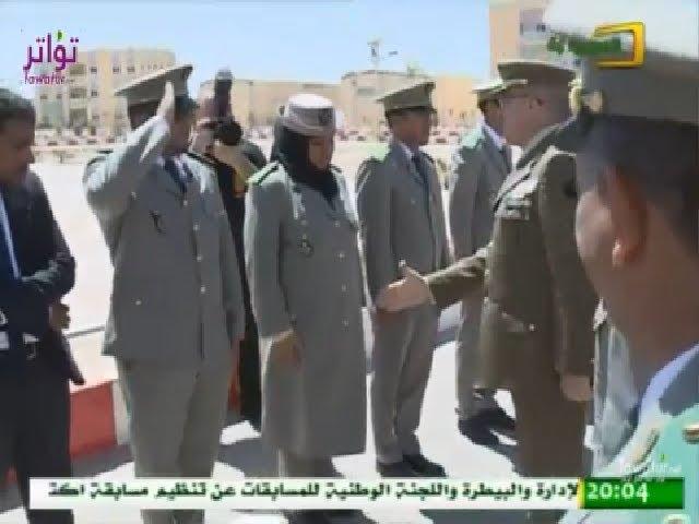 ضابطة في الجيش الموريتاني تحجم عن مصافحة قائد أركان الجيوش الإسبانية - قناة الموريتانية